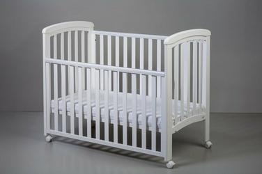 Nicole łóżeczko dziecięce 120x60 k. biały opuszczany bok