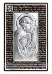 Obrazek BC6380M3N Święta Rodzina na panelu z modlitwą 21,6 x 33,6 cm.