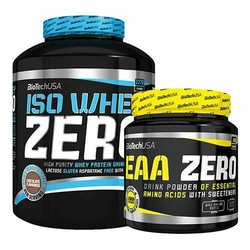 Bio Tech USA Iso Whey Zero 2270 + EAA Zero 330 - Coconut  Blue Grape