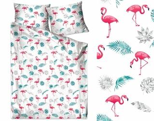 Pościel Bawełniana Flamingi Bielbaw