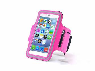 Etui na ramię sportowe do biegania na telefon do 5.5 cala różowe - Różowy