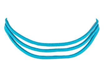 Choker rzemyk niebieski - niebieski