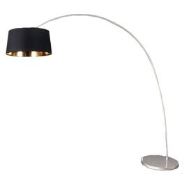 Lampa stojąca do salonu Francesca czarna