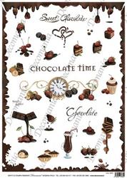 Papier ryżowy Decomania 35x50 cm czekoladki deser