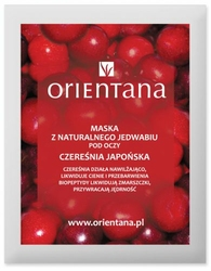 Orientana, Maska pod Oczy z Jedwabnej Tkaniny Czereśnia Japońska, 1szt.