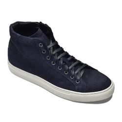 Granatowe wysokie zamszowe sneakersy VAN THORN 45