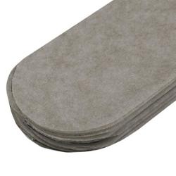 Papierowy pompon 15 cm - szary - SZA