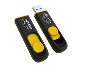 Adata DashDrive UV128 64GB USB3.0 czarno - żółty 90MB  40MB