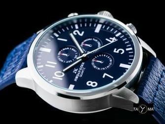 Niebieski zegarek meski na pasku JORDAN KERR - L2682 zj075c