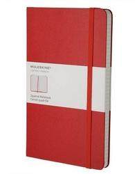 Notes Moleskine L w kratkę czerwony