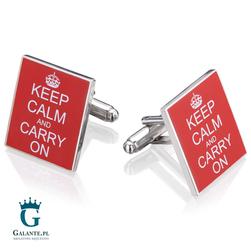 Spinki do mankietów Keep Calm  Carry On UE-00950