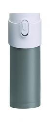 Termokubek z zaparzaczem PAO szary z białą pokrywk