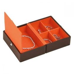 Pudełko na biżuterię podróżne Travel Box Stackers czekoladowe