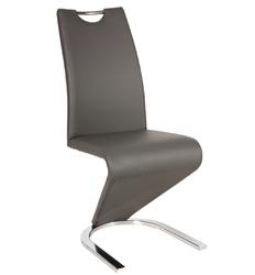 Krzesło tapicerowane do jadalni Tilly szare ekoskóra