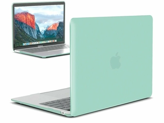 Etui Alogy Hard Case crystal + torba neopren do MacBook Air 2018 13 miętowe - Miętowy
