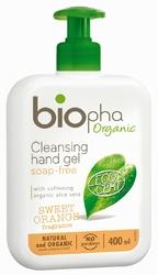 BIOpha, Żel do mycia rąk, butelka z pomką, 400ml