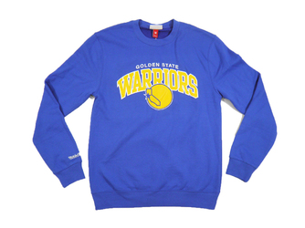 Bluza Mitchell  Ness Golden State Warriors NBA Team Arch Crew - MN-NBA-TMARCHCREW-GOLWAR