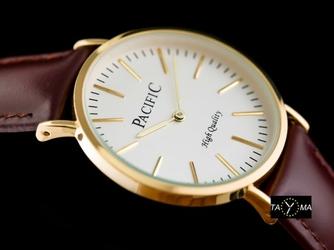 Brązowy zegarek damski na pasku PACIFIC A278 zy567d