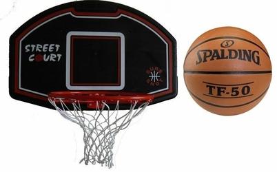 Zestaw do kosza 506 Bronx Sure Shot + Piłka do koszykówki Spalding TF-50