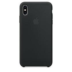 Apple Etui silikonowe iPhone XS Max - czarne