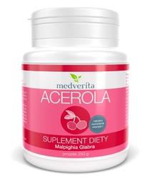 ACEROLA - ekstrakt 25 - proszek 250 g, z owoców aceroli Malpighia glabra