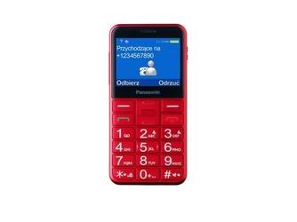 Panasonic telefon komórkowy kx-tu150 dla seniora  czerwony