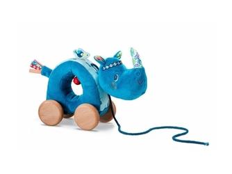 Nosorożec marius pluszowa zabawka do ciągnięcia