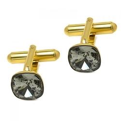Spinki do mankietów z kryształami swarovski srebro pr. 925 009