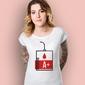 Grupa krwi a+ t-shirt damski biały xxl