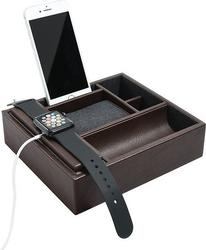 Stacja dokująca i pudełko na zegarki i biżuterię duże stackers brązowe