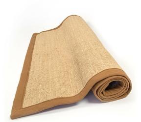 Dywan sizalowy z naturalnego włókna bordiura 80 x 150 cm kolor brązowy