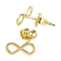 Hope kolczyki złote infinity