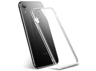 Etui cafele slim glass apple iphone xr przezroczyste + szkło alogy - przezroczysty