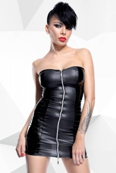Komplet sukienka + stringi greta czarny l | 100 dyskrecji | bezpieczne zakupy