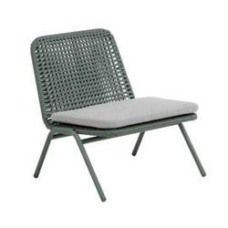 Metalowy fotel ogrodowy viena zielony