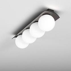 Aqform :: lampa sufitowa  plafon modern ball czarna białe klosze szer. 68 cm