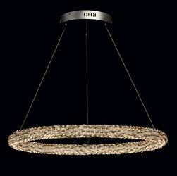 Lampa led kryształy bursztynoweszaretransparentne chiaro zdalne sterowanie 498014101