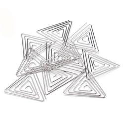 Metalowa baza do biżuterii - trójkąt 35x35 mm - 35x35mm