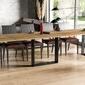 Nowoczesny rozkładany stół borys na metalowych nogach 130-330 x 80 cm dąb wotan