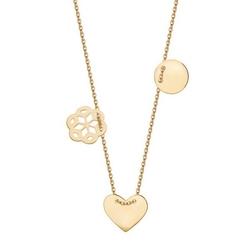 Staviori naszyjnik celebrytka złota 0,333, serce, kółko i ażurowy kwiat