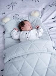 Śpiworek niemowlęcy dream catcher triangles light grey 6in1 80x45 cm