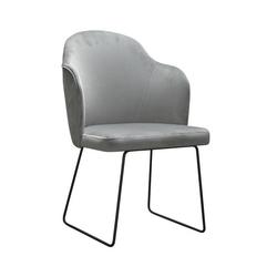 Nowoczesne krzesło tapicerowane samson u na metalowych nogach