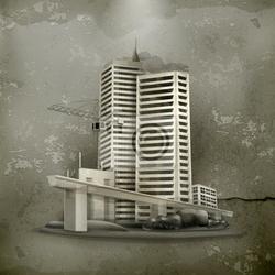 Obraz budownictwo starym stylu