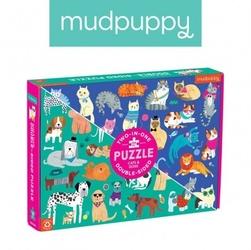 Mudpuppy puzzle dwustronne koty i psy 100 elementów 6+