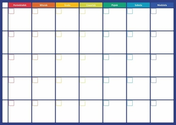 Planer tygodniowy tablica suchościeralna 273