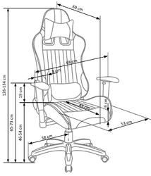 Wysoki fotel biurowy defender