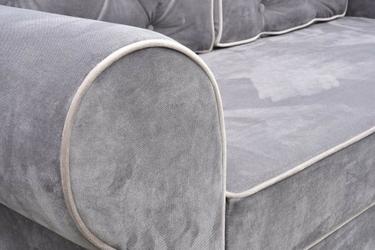 Fotel mangusta pikowany glamour