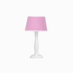 Lampka nocna roomee decor - malinowa z białą lamówką