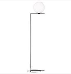Flos :: lampa podłogowa ic f1 - wys. 135 cm - chrom