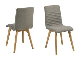 Krzesło amosa jasnoszare  skandynawskie
